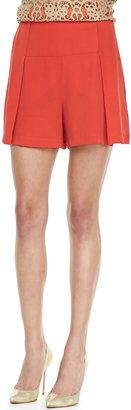 Robert Rodriguez Silk Wide-Leg Shorts