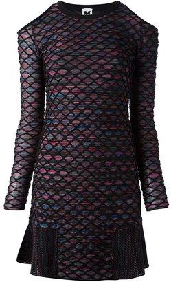 M Missoni cold shoulder knitted dress