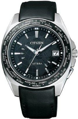 Atessa (アテッサ) - [シチズン]CITIZEN 腕時計 ATTESA アテッサ Eco-Drive 電波時計 ワールドタイム 日中米欧世界多局受信対応 Perfex搭載 ATD53-3093 メンズ