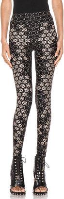 Alexander McQueen Honeycomb Legging in Flesh & Black