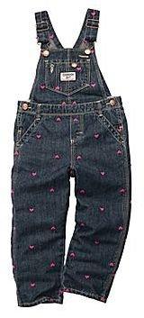 Osh Kosh Heart Denim Overalls - Girls 3m-24m