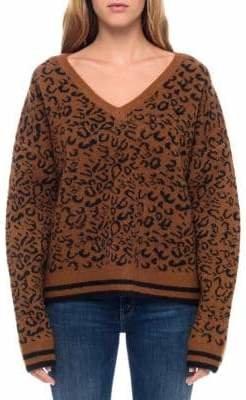 Line Samantha Leopard V-Neck Sweater