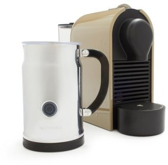 Nespresso U with Aeroccino Plus Frother Set, Taupe