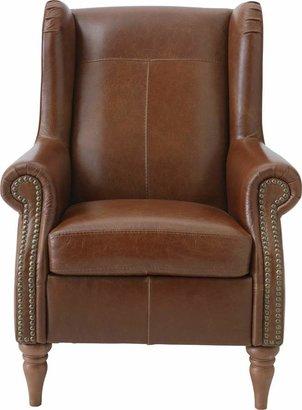 Argos Home Argyll Studded Leather High Back Chair