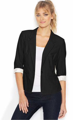 kensie Three-Quarter-Sleeve Blazer $89 thestylecure.com