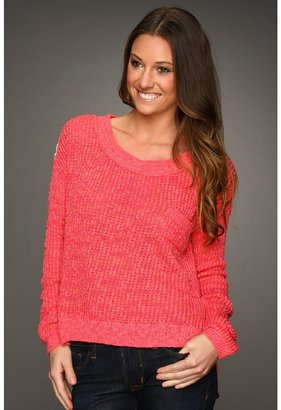 Free People Sweet Jane Lace Back Pullover (Strawberry Patch) - Apparel