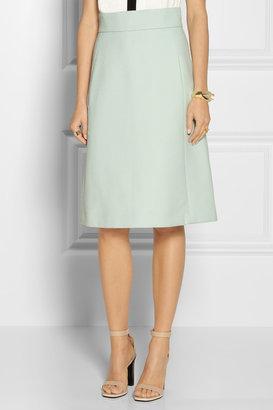 Chloé High-waisted wool A-line skirt