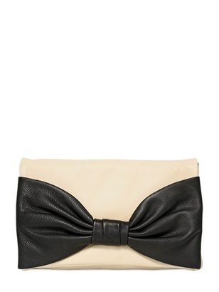 RED Valentino Two Tone Leather Shoulder Bag