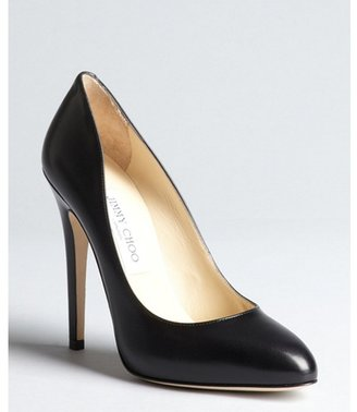 Jimmy Choo black leather tapered toe 'Victoria' pumps