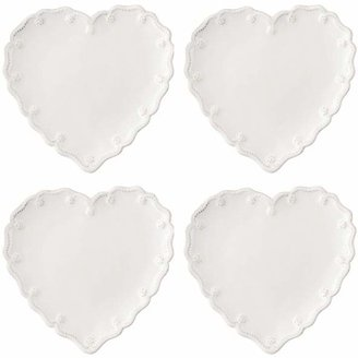 Juliska Berry & Thread Heart Cocktail Plate, Set of 4