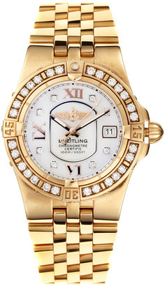 Tourneau Breitling Diamond & Mother Of Pearl Starliner Watch