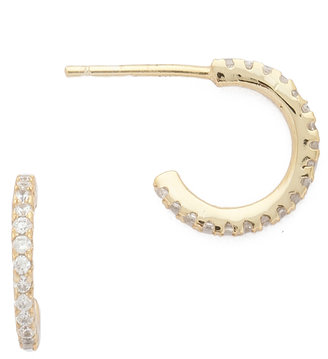 Shashi Mini Hoop Earrings $58 thestylecure.com