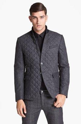 Paul Smith Quilted Herringbone Wool Blazer