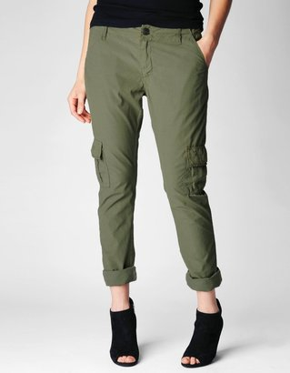 True Religion Celina Mid Rise Relaxed Rolled Cargo Womens Pant