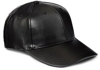 JCPenney Faux Leather Baseball Cap