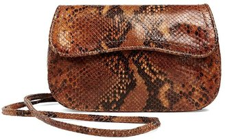 Brooks Brothers Python-Embossed Cross-Body Clutch