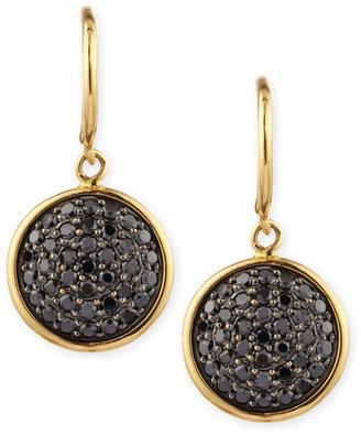 Black Diamond Syna 18k Gold 10mm Chakra Earrings