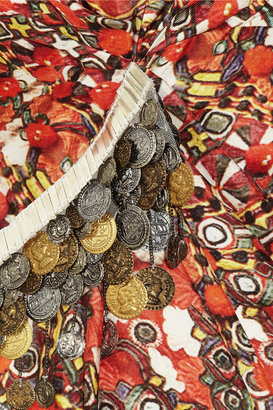 Altuzarra Puneet embellished printed silk-twill dress