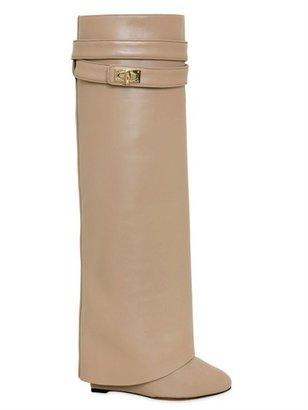 Givenchy 110mm Shark Lock Calfskin Tall Boots
