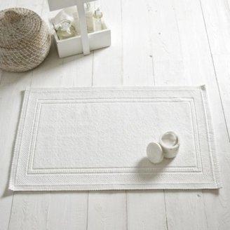 The White Company Antibes Bath Mat, White, Medium