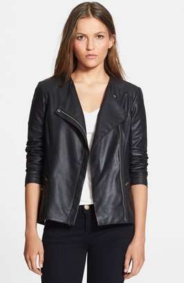 Veda 'Aires' Asymmetrical Zip Leather Jacket