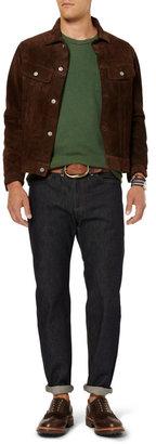 Jean Shop Stitched Leather Belt