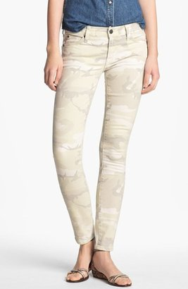 TEXTILE Elizabeth and James 'Debbie' Camo Print Stretch Jeans Womens White Camo Size 29 29