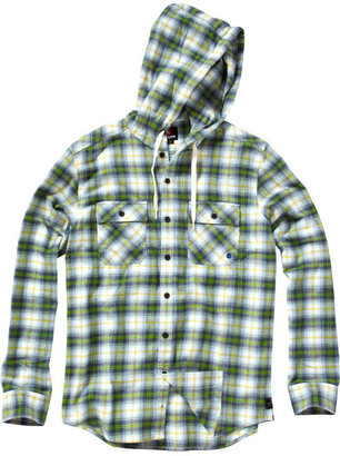 Quiksilver Tripped Out Long Sleeve Hooded Flannel Shirt