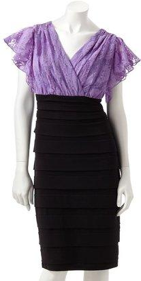 Chaya colorblock mixed-media dress