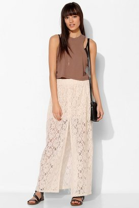 Urban Outfitters Pins And Needles Lace Button-Front Maxi Skirt