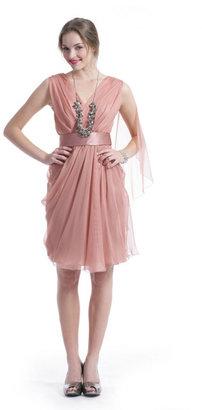 Alberta Ferretti Dusty Rose Dress