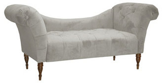 Cameron Tufted Chaise, Light Gray