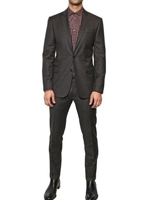 DSquared Checked Wool Milano Slim Fit Suit