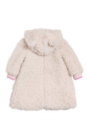 Simonetta Hooded Curly Faux Shearling Coat