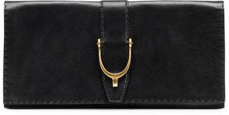 Gucci Soft Stirrup Leather Clutch Bag