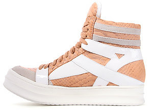 Jeffrey Campbell The Tronic Sneaker in Light Pink Croc