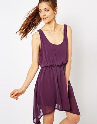 Lovestruck Daria Chiffon Dress with Rope Detail - Purple