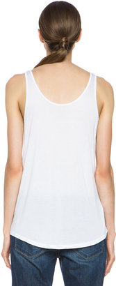 Enza Costa Loose Viscose Tank in White