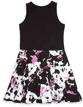 Flowers by Zoe Girl's Printed Faux Leather Dress