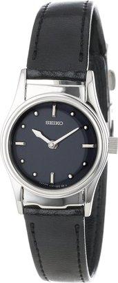 Seiko Women's SWL001 Braille Black Leather Strap Watch
