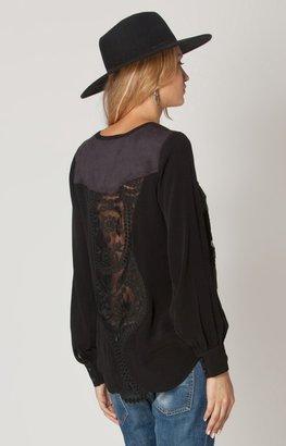 Hale Bob Kaylina Lace-Up Top In Black