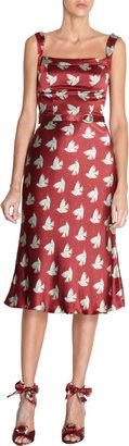 L'Wren Scott Bird Print Dress