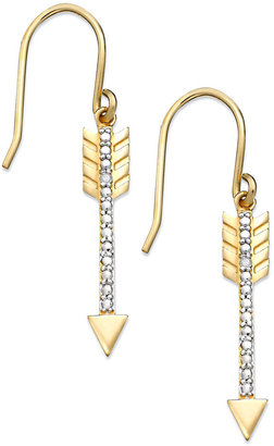 Townsend Victoria 18k Gold over Sterling Silver Earrings, Diamond Accent Arrow Earrings