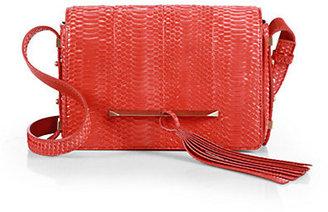Brian Atwood Bo Snakeskin Mini Crossbody Bag