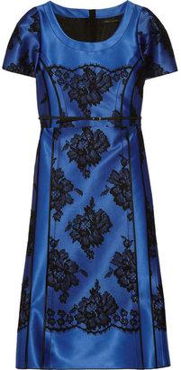 Marc Jacobs Satin and cotton-blend lace dress