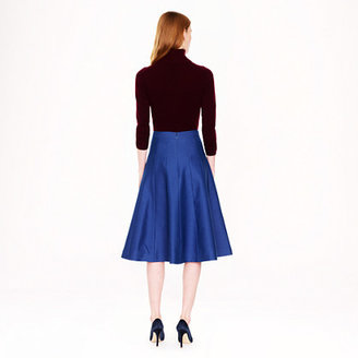 J.Crew Collection scallop midi skirt