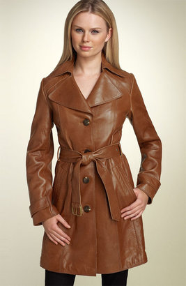 Marc New York 'Ashley' Belted Leather Trench Coat