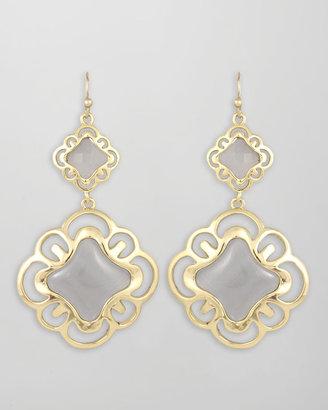 Kendra Scott Double-Drop Scroll Earrings, Slate