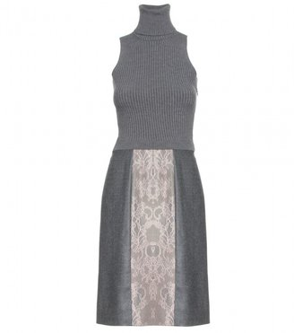 Valentino KNIT DRESS WITH WOOL SKIRT