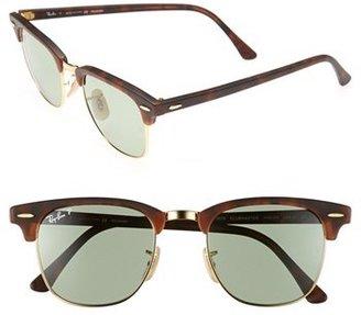 Ray-Ban 'Clubmaster' 49mm Polarized Sunglasses